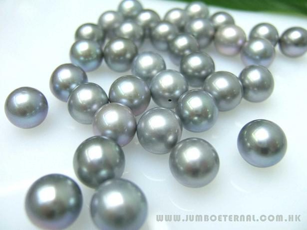 Grey Round Loose Pearls